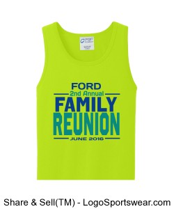 100% Cotton Adult Tank Top Design Zoom